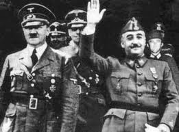 Dictators Franco and Hitler