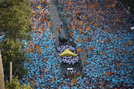 11S2015 demonstration for independence, Barcelona. Over 2 million people crying independence.